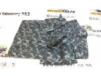 Коврик под рычаги УАЗ 469 омон (серый камуфляж) прострочка ромбом